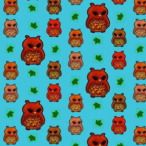 Owls and leaves Childhood
