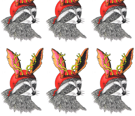 Raccoon_Jackalope fabric by maghee on Spoonflower - custom fabric
