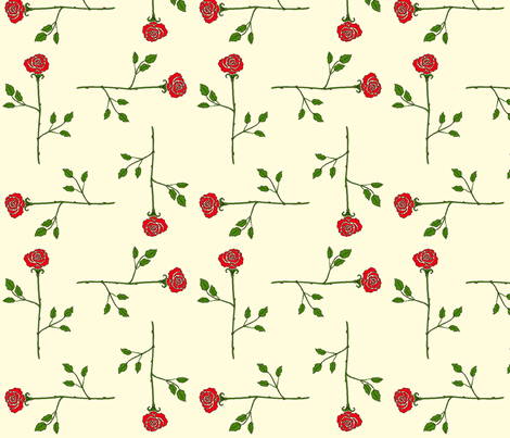 scattered_longstem_roses fabric by victorialasher on Spoonflower - custom fabric