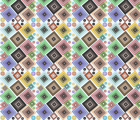 Diamonds_and_Circles fabric by silverspoon on Spoonflower - custom fabric