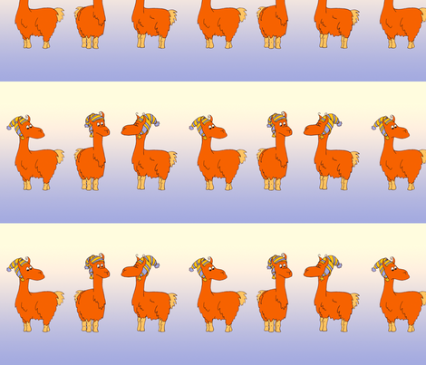 Llamas fabric by thelazygiraffe on Spoonflower - custom fabric
