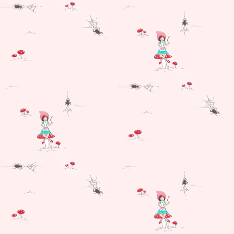Millie Miss Muffet fabric by pocketful_of_pinwheels on Spoonflower - custom fabric