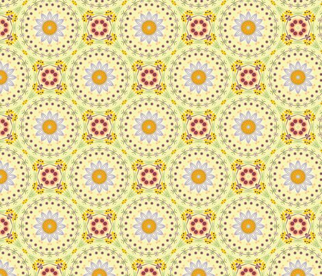 floral shapes II 160433 adj fabric by thatswho on Spoonflower - custom fabric
