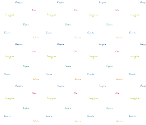 Respire Espere Ecoute Ose Imagine Admire fabric by filambulle on Spoonflower - custom fabric
