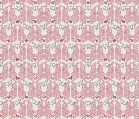 Schmetterlinge fabric by corinna on Spoonflower - custom fabric