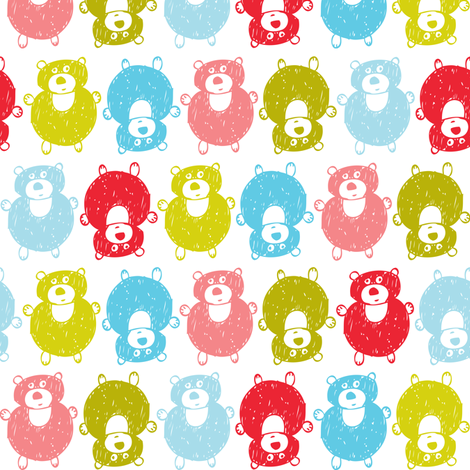 Bubble Bears fabric by heatherdutton on Spoonflower - custom fabric