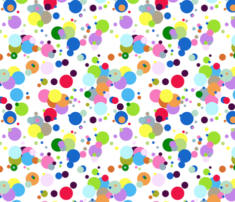Fresh ButterBar Motif Bright Dots fabric by graham_gardens on Spoonflower - custom fabric