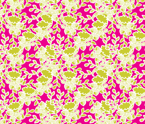 Forest fushia fabric by tailorjane on Spoonflower - custom fabric