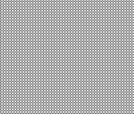 Gingham_Invaded-BLK fabric by voodoorabbit on Spoonflower - custom fabric