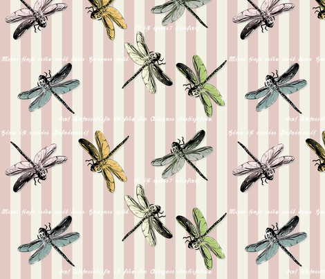 Libellen_jep fabric by corinna on Spoonflower - custom fabric