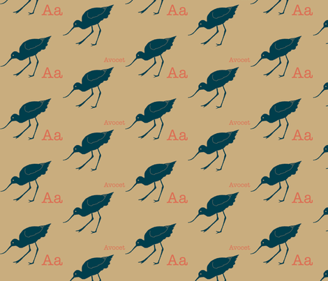 A is for Avocet fabric by maile on Spoonflower - custom fabric