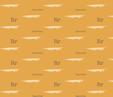 R is for Razorfish fabric by maile on Spoonflower - custom fabric