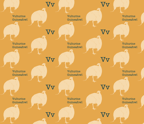 V is for Vulturine  fabric by maile on Spoonflower - custom fabric