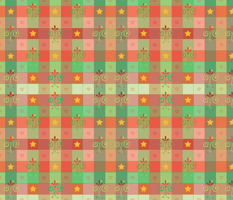 xmasgingham fabric by leslipepper on Spoonflower - custom fabric