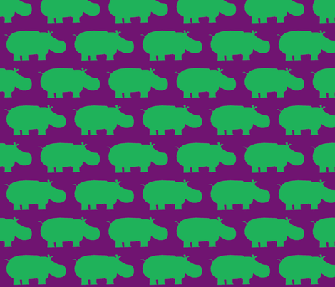 Hippo fabric by blue_jacaranda on Spoonflower - custom fabric