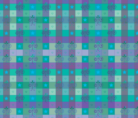 oceantwilightgingham fabric by leslipepper on Spoonflower - custom fabric