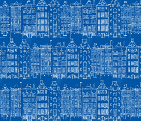 DutchHouses fabric by blue_jacaranda on Spoonflower - custom fabric
