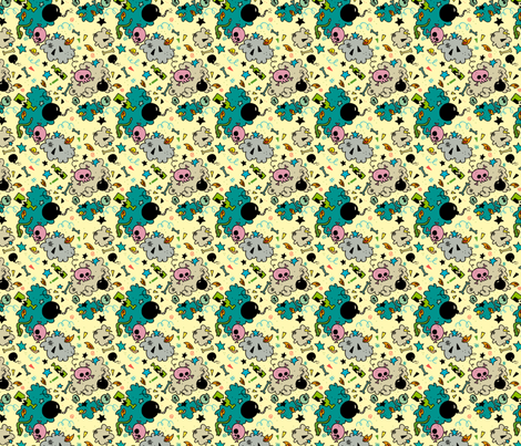 Eeny Meanie fabric by travale on Spoonflower - custom fabric