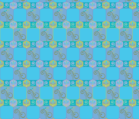 oceancheckers fabric by leslipepper on Spoonflower - custom fabric