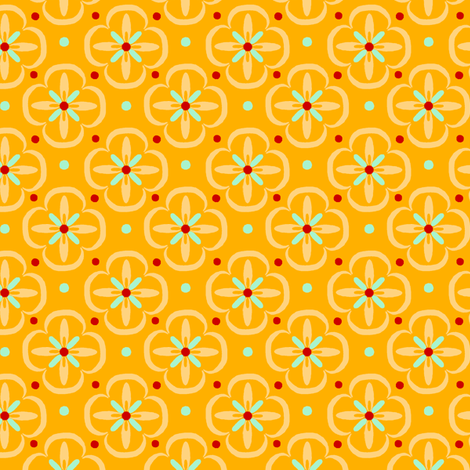 Orange Geo fabric by oliverands on Spoonflower - custom fabric