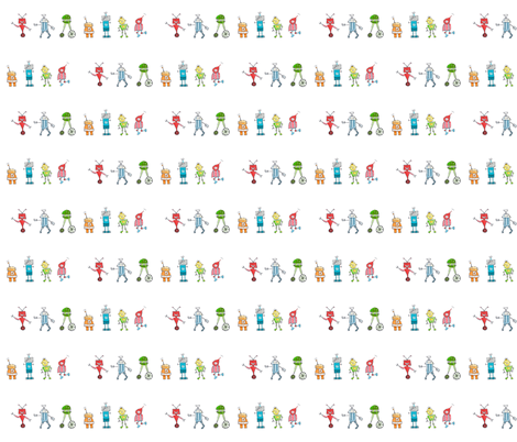 robot red-rover fabric by pocketful_of_pinwheels on Spoonflower - custom fabric