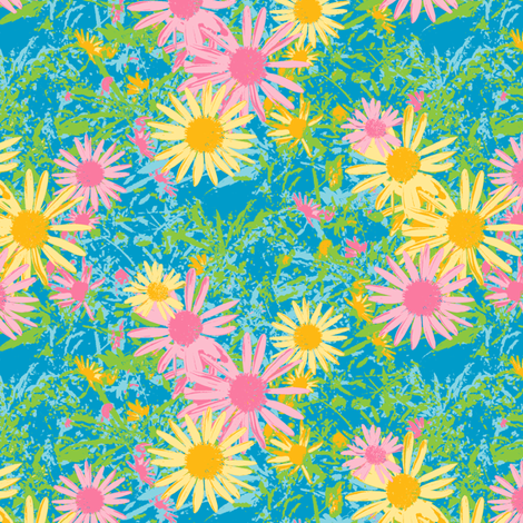 Wild Daisy - Storm fabric by inscribed_here on Spoonflower - custom fabric