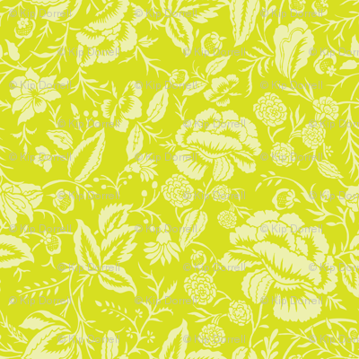 Cotton Floral Block Fabric