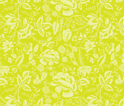 Cotton Floral Block Fabric fabric by kippygo on Spoonflower - custom fabric