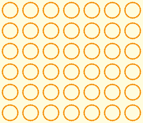 Circle Rocks in Orange fabric by applesandorange on Spoonflower - custom fabric