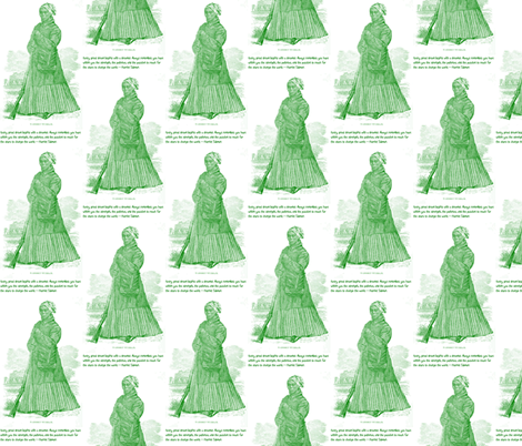 Harriet Tubman  Quote-Green 001 fabric by kkitwana on Spoonflower - custom fabric