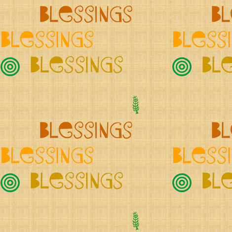 Blessings-003  fabric by kkitwana on Spoonflower - custom fabric