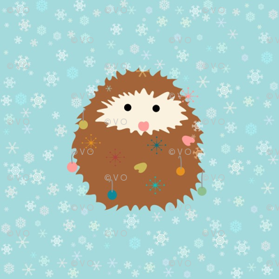 hedgie_christmas_spoonflower