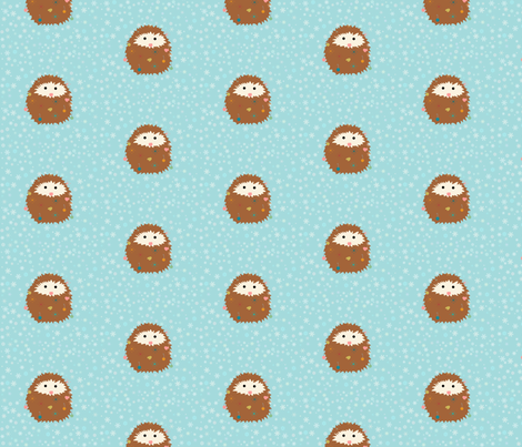 hedgie_christmas_spoonflower fabric by vo_aka_virginiao on Spoonflower - custom fabric