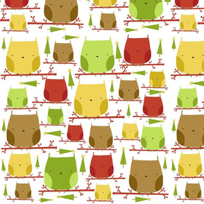 christmas owls