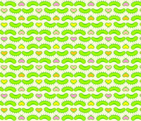 flytrap hearts fabric by robinde on Spoonflower - custom fabric