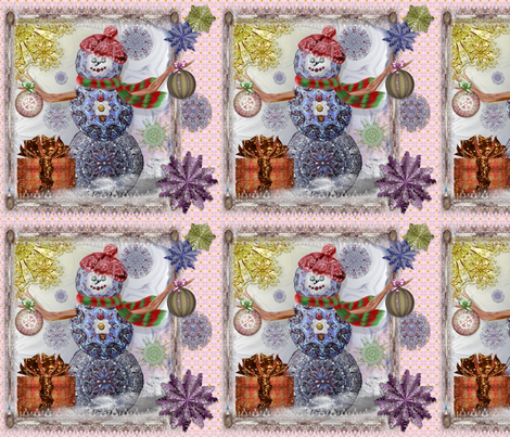 SnowmanHoliday fabric by travlynwomyn on Spoonflower - custom fabric