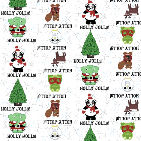 have a stripey holly jollies christmas! fabric by giolou on Spoonflower - custom fabric