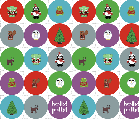 have a holly jollies christmas! fabric by giolou on Spoonflower - custom fabric