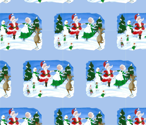 Winter Dance fabric by plucksduck on Spoonflower - custom fabric
