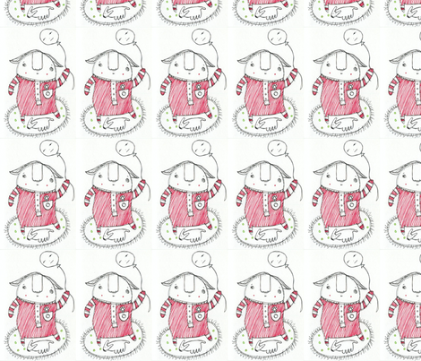 Balloon Girl fabric by roshekie on Spoonflower - custom fabric