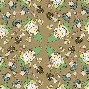 gnomes in brown