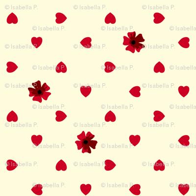 Hearts n Flowers - Garnet