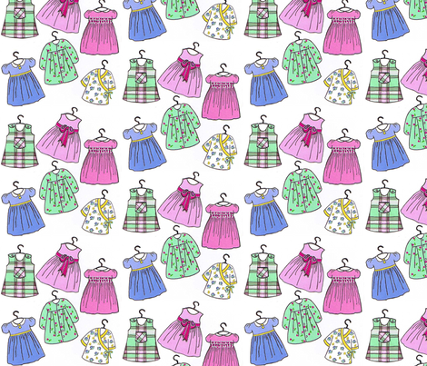 dresses fabric by connielou on Spoonflower - custom fabric