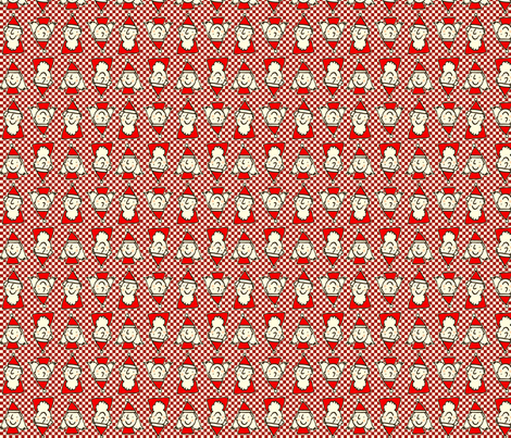 santas red fabric by lisa_littlek on Spoonflower - custom fabric