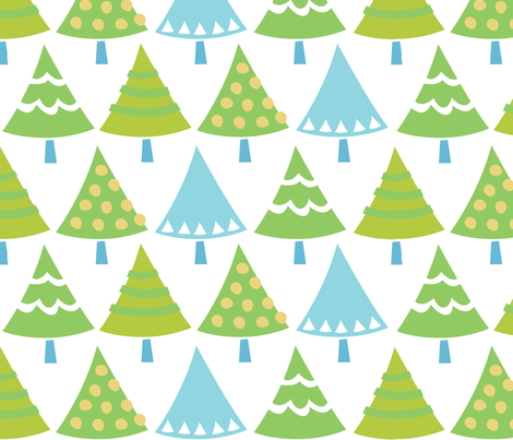 trees_white fabric by juliannlaw on Spoonflower - custom fabric
