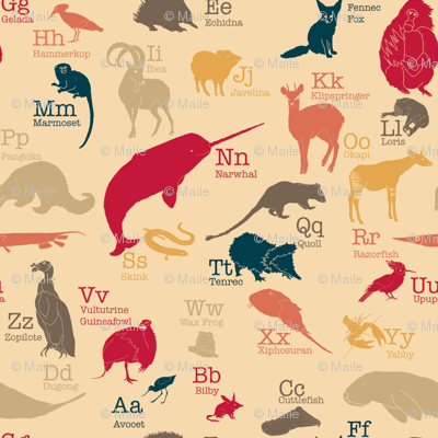 Obscure Animals Alphabet