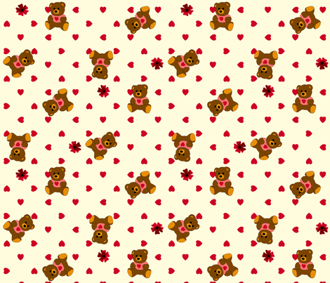 Bear Hugs - Milk fabric by inscribed_here on Spoonflower - custom fabric