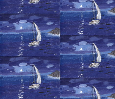 Sunshine at night fabric by gart on Spoonflower - custom fabric