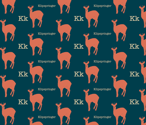 K is for Klipspringer fabric by maile on Spoonflower - custom fabric