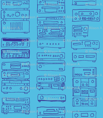 blue stereo
